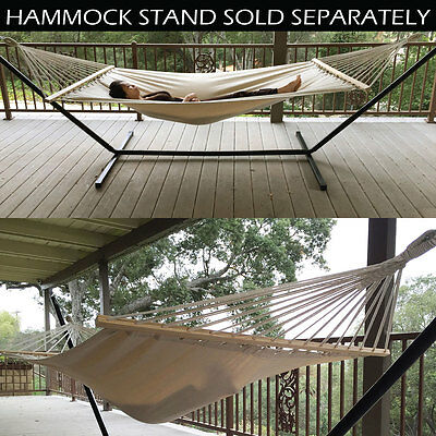 Canvas Hammock New Outdoor Swing Chair Hanging Camping Cotton Double Bed Patio