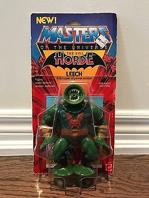 Vintage Carded Masters Of The Universe Leech Figure