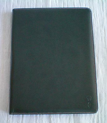 Rolex large green notebook / notepad with paper insert.