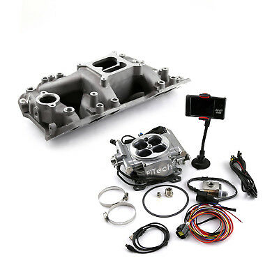 Chevy BBC 454 Eliminator Rect Manifold & FiTech Go EFI 30001 Fuel Injection