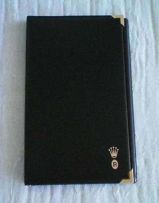 Rolex black notebook / notepad with paper insert.