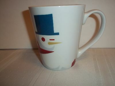Starbucks Winking Snowman Mug Christmas Red Scarf Holiday Cup 2012 Original