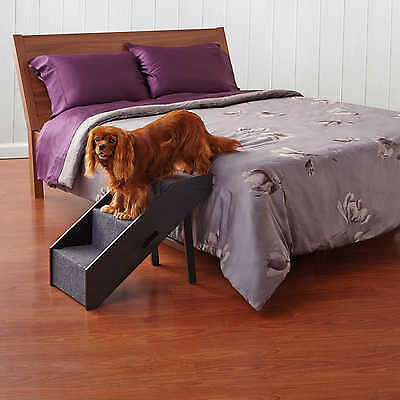 Deluxe Convertible Pet Step Animal Ramp Dog Stairs Easy Reach High Bed Ground
