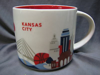 Starbucks Coffee Mug Kansas City 14 oz You Are Here Collection YAH