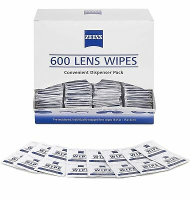 Zeiss Pre-Moistened Lens Cloths Wipes 600 Ct, Glasses Camera Phone Cleaning, New