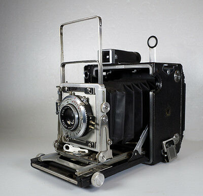Speed Graphic- Graflex 2x3 large format film camera kodak Ektar 101mm lens
