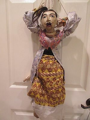 Vintage Burmese(?) Marionette Carved Wood  Female