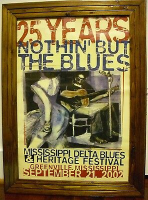 Mississippi Blues & Heritage Festival Poster And Sign, NOTHIN' BUT THE BLUES