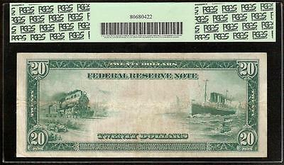 LARGE 1914 $20 DOLLAR BILL BIG FEDERAL RESERVE NOTE CURRENCY MONEY Fr 979a PCGS