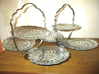 2 RETRO VINTAGE FOLDING CAKE STANDS perfect for your next special occasion