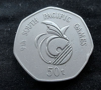 50 Toea Papua New Guinea 1991 9th South Pacific Games #4450
