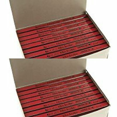 2 boxes 144no Rexel Blackedge Carpenters Pencil RED (medium) *CHEAPEST ON EBAY*