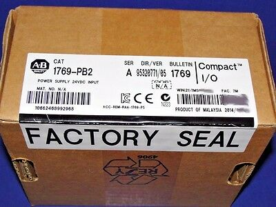 FACTORY SEALED Allen Bradley 1769-PB2 /A CompactLogix DC Power Supply  # 2