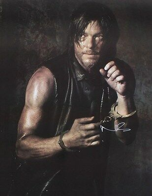 Signed Norman Reedus Daryl from the Walking Dead Size 5 x 7 Photograph (1)