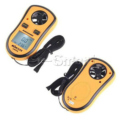 NEW Digital LCD Pocket Anemometer Wind Speed Meter Thermometer Bargraph °C °F AS