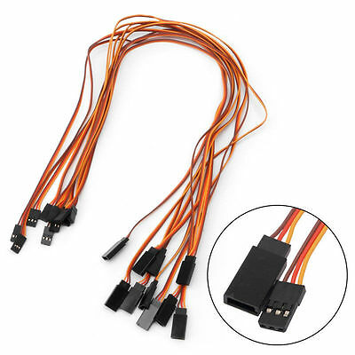 10PCS 500mm Servo Lead Extension Wire Cable For RC Futaba JR Male to Female 50cm