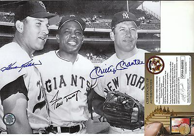 GFA Mickey Mantle Willie Mays Harmon Killebrew Signed 8x10