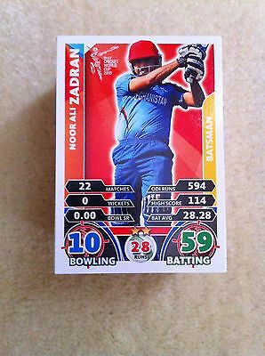 2015 Icc Topps World Cup Cricket Cards Complete Set