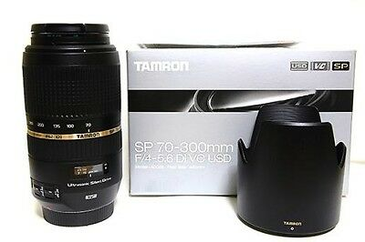 TAMRON Zoom Lens SP 70-300mm F4-5.6 Di VC USD full-size A005E for Canon New