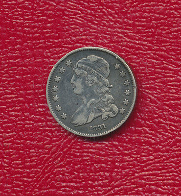 1831 Capped Bust Silver Quarter *nice Circulated Silver Quarter* Free Shipping!