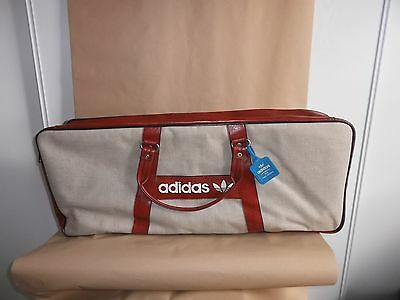 VINTAGE 1970's ADIDAS MADE IN FRANCE SPORTS CANVAS TENNIS BAG NEW