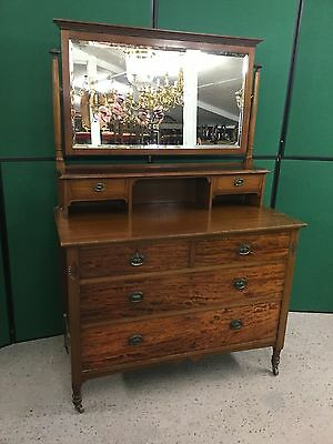 Antique Edwardian Dressing Table / Chest Of Drawers