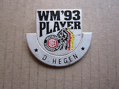 Dieter Hegen DEB 1993 World Championship Pin Badge