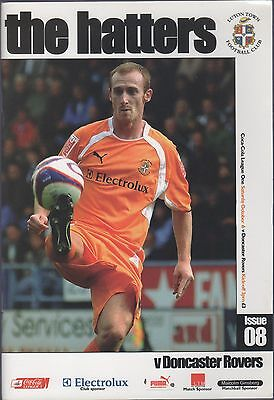 Luton Town V Doncaster Rovers  Programme 6.oct. 2007