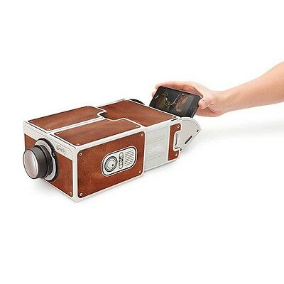 Cardboard Smartphone 2.0 Projector FOR Smart Phone Portable Cinema Movie UKstock