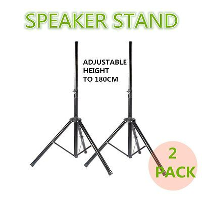 2 X PA Speaker Tripod Stands Adjustable Height High Quality Steel Tube uk