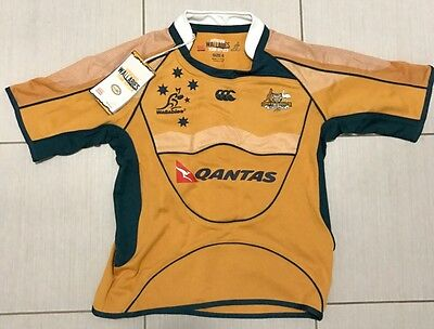 WALLABIES JERSEY KIDS AUTHENTIC MERCHANDISE QANTAS CCC Canterbury Youth Size 6