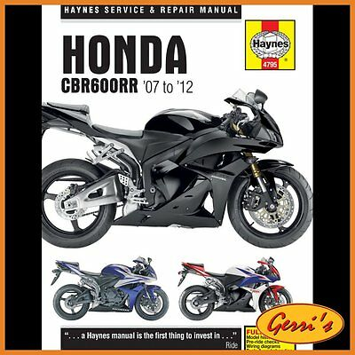 4795 Haynes Honda CBR600RR 2007 - 2012 Workshop Manual