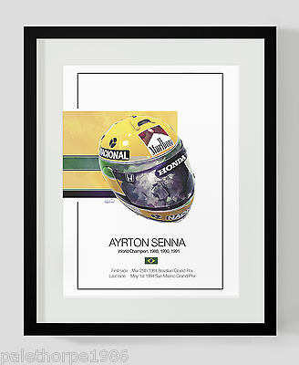 Ayrton Senna F1 Print - Limited Edition Collectors F1 Art - only 50 total prints