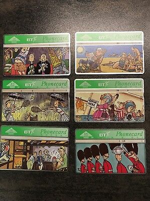 BT COLLECTORS PHONE CARDS TRUE-Brit Complete 6 Collection