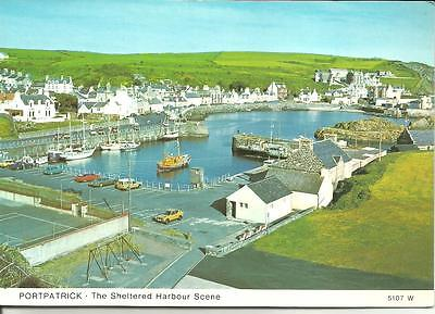 The Harbour, PORTPATRICK, Wigtownshire Lifeboat + Pleasure Craft+Vintage Cars