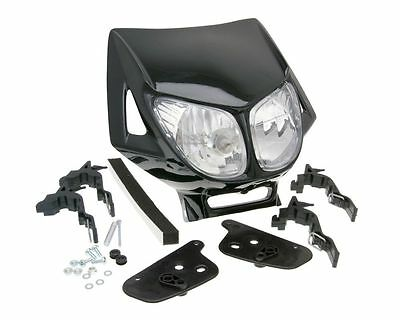 Headlightcover Enduro double look black for GENERIC Trigger SM 50 AM6