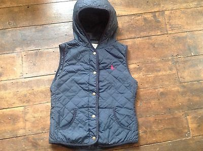 Womens Jack Wills navy quilted Gilet/ bodywarmer, size 10