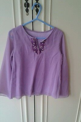 Vintage Retro Mothercare pink lilac -shirt top   120 cm height age 6-7 floaty
