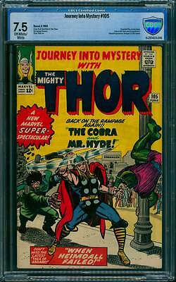 Journey into Mystery # 105  Return of Cobra & Mr. Hyde !  CBCS 7.5 scarce book !