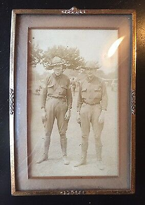 WW1 Framed Soldiers Photo