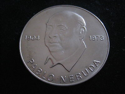 "Mds Ddr Medaille 1973 ""pablo Neruda"""