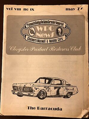 WPC News Chrysler Product Restorers Club, Lot 7 Collectible Booklets, 1975,76,77