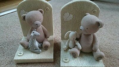 John Lewis teddy bear bookends - brand new RRP £30