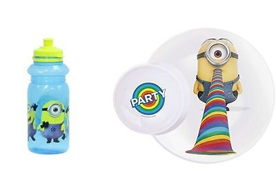 Minions Joblot 3 x Multipurpose Plates and 3 Drinks Bottles