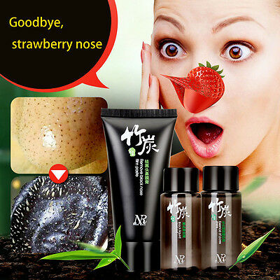 Blackhead Remover Set,Deep Cleansing Purifying Peel Acne Black Mud Face Mask Hot