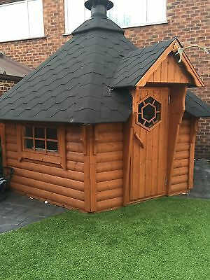 bbq hut With Accessories cabin Kota House Garden