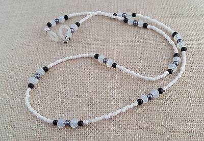 Black and white beaded sunglasses or spectacles cord