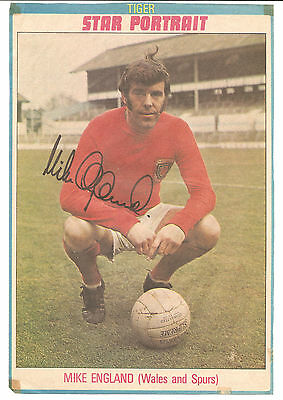 Mike England Wales signed colour football magazine picture 10.5 x 7 inches.