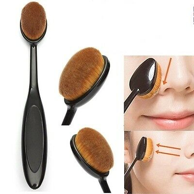 Cosmetic Makeup Face Powder Blusher Toothbrush Curve Brush Foundation Tool 1Pc