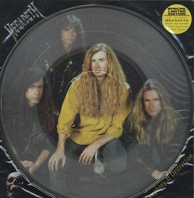 """Megadeth Symphony Of Destruction Limited 12"""" Single Clear Vinyl With Poster 1992"""